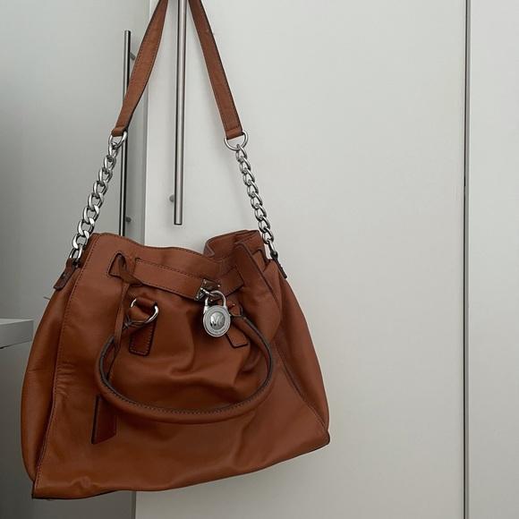 Brown Large Leather Michael Kors Satchel Bag